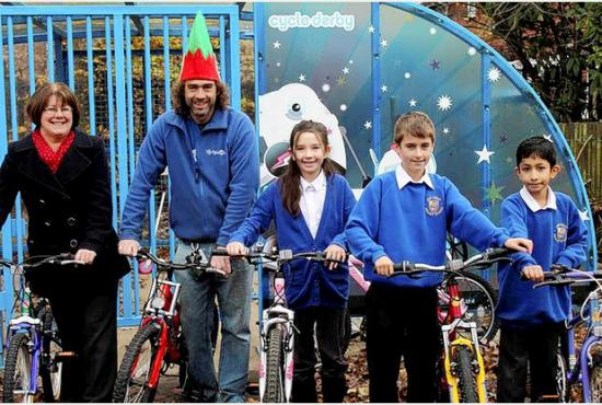 John Hughes of Bike Back Derby supplies refurbished bikes to Ashcroftt Primary School