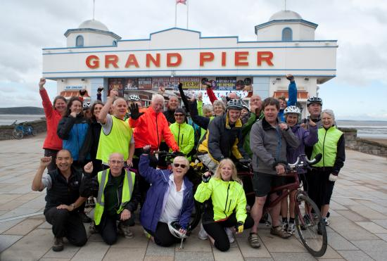 Life Cycle UK's inclusive cycling participants at Weston Super Mare Pier